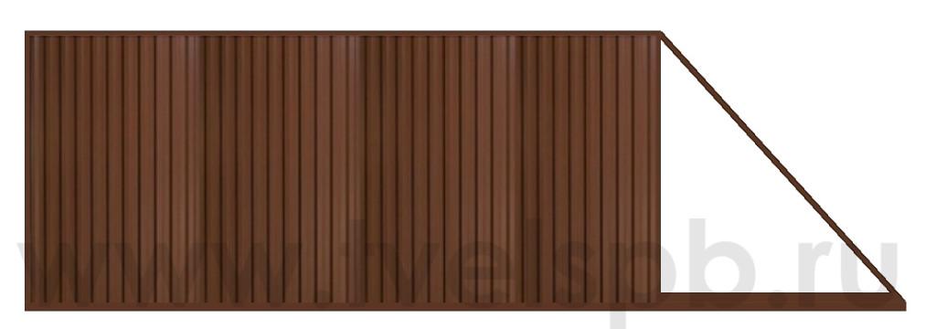 откатные ворота с зашивкой проф.листом