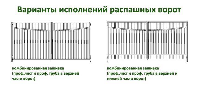 эскизы распашных ворот 5