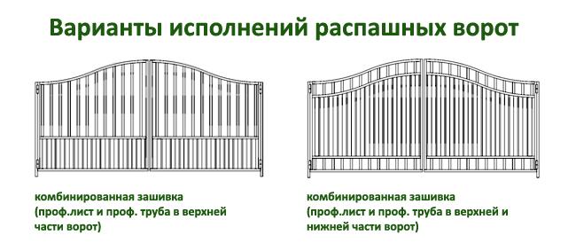 эскизы распашных ворот 3
