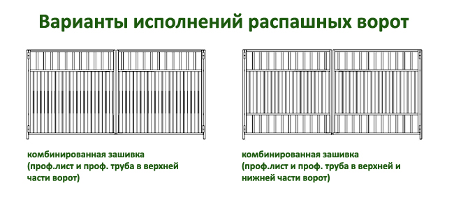 эскизы распашных ворот 4