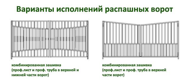 эскизы распашных ворот 6