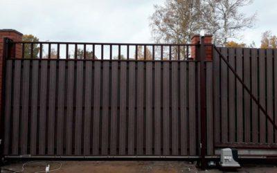 Цена на откатные ворота с электроприводом
