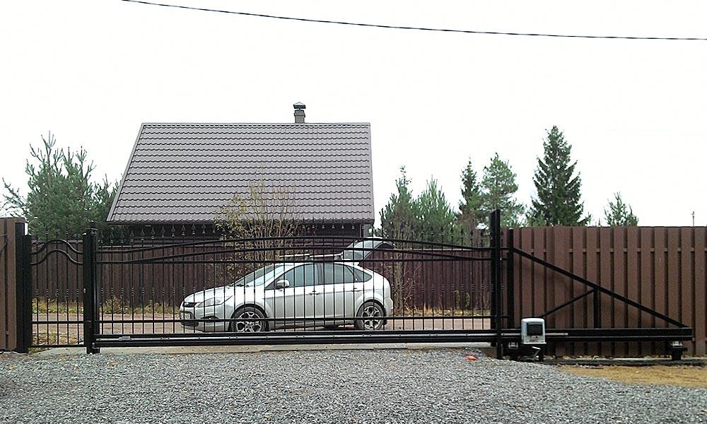 Откатные ворота решетчатого типа с электроприводом CAME BK1800