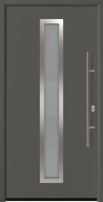 входная дверь Thermo 65 мотив THP 700A Титан Металлик CH703