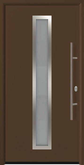 входная дверь Thermo 65 мотив THP 700A RAL8028