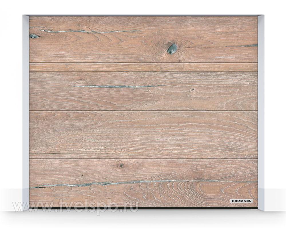 Гаражные ворота Херманн DuraGrain WhiteOiled Oak Дуб белый промасленный