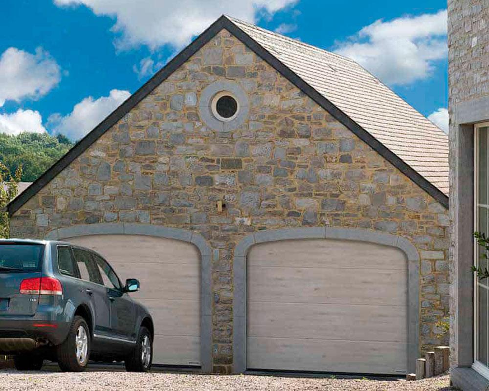 ворота гаражные HORMANN Duragrain Whitewashed Oak