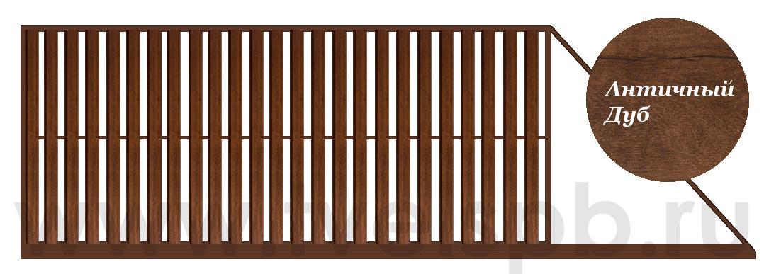 Откатные ворота ТВЕЛЬ в зашивкой полотна металлоштакетником