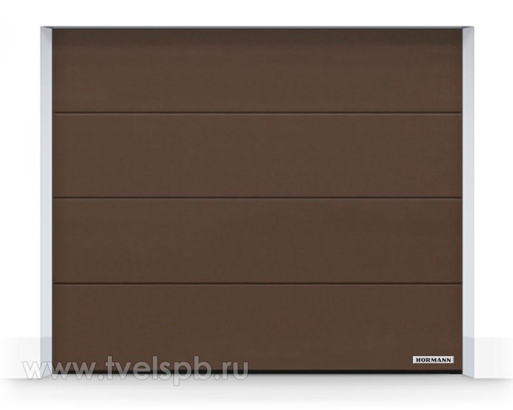 гаражные-ворота-hormann-renomatic-duragrain-diamond-brown