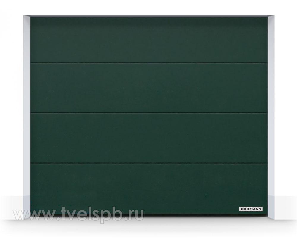 гаражные-ворота-hormann-renomatic-duragrain-diamond-green