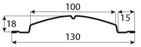полукруглый евроштакетник Размеры