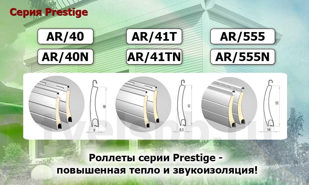 роллеты Алютех серии Prestige