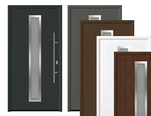 входные двери со стеклом Thermo65